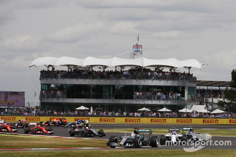 Lewis Hamilton, Mercedes AMG F1 W06, beim Start