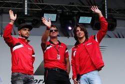 Уилл Стивенс, Manor F1 Team, Роберто Мери, Manor F1 Team и Грэм Лоудон, Manor F1 Team на концерте по