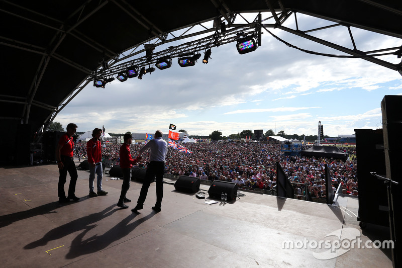 Tony Jardine, with the Manor F1 Team at the post race concert