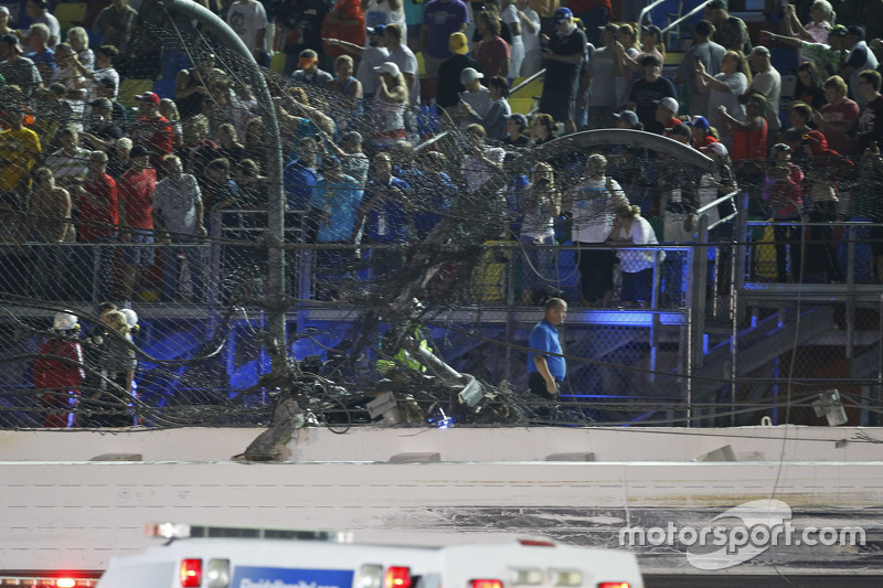 Hole in the Daytona International Speedway fence