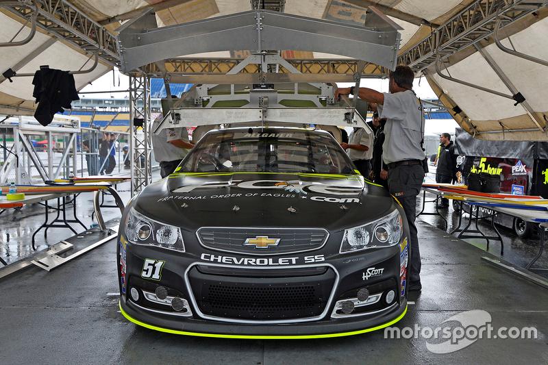 Justin Allgaier, HScott Motorsports Chevrolet goes through inspection