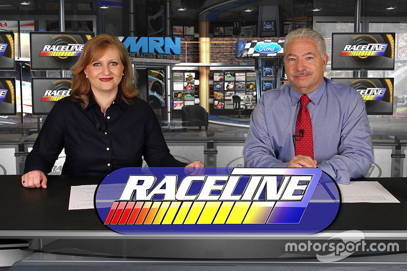 On the set of Raceline with Tiffany Ricardo and Joe Moore
