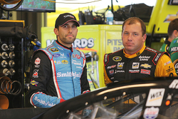 Aric Almirola, Richard Petty Motorsports Ford and Ryan Newman, Richard Childress Racing Chevrolet