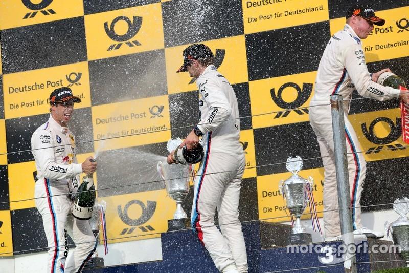 Podium: second place Antonio Felix da Costa, BMW Team Schnitzer BMW M4 DTM and winner Marco Wittmann