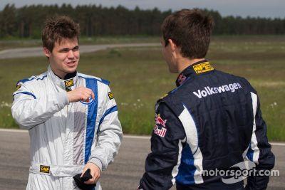 Sébastien Ogier e Magnus Carlsen, il test
