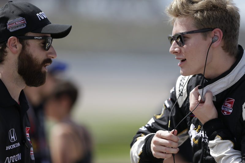 James Hinchcliffe, Schmidt Peterson Motorsports and Josef Newgarden, CFH Racing