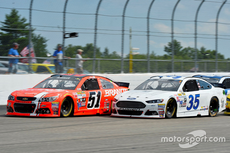 Justin Allgaier, HScott Motorsports Chevrolet and Cole Whitt, Front Row Motorsports Ford