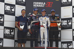 Podium: race winner Jack Aitken, second place Matevos Isaakyan, third place Jehan Daruvala