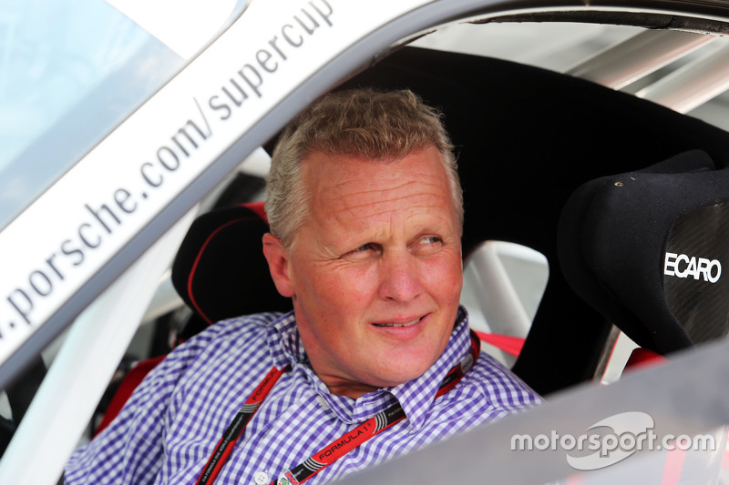 Johnny Herbert, Sky Sports F1 Presenter in his Porsche Supercup car