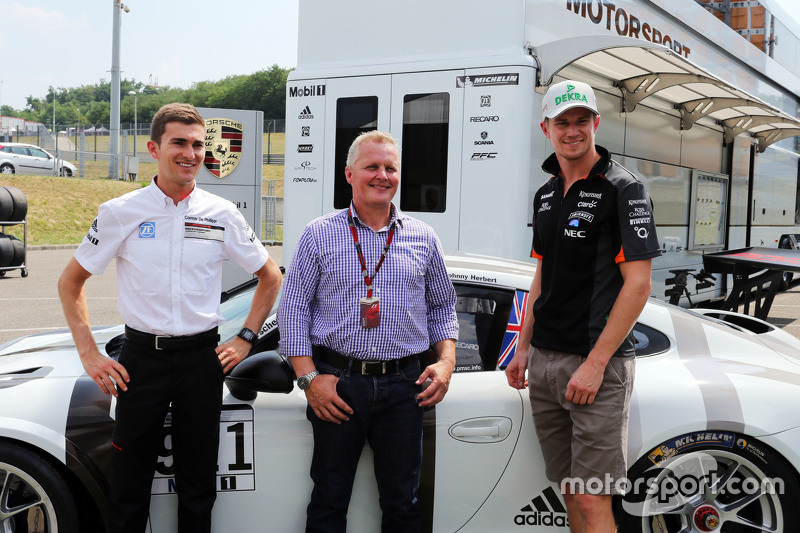 Connor De Phillippi, Porsche Junior Driver dengan Johnny Herbert, Sky Sports F1 Presenter dan Nico H