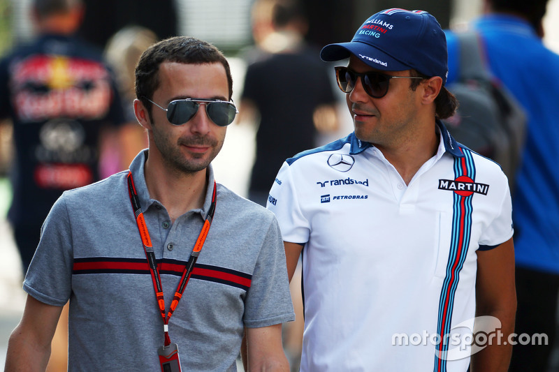 Felipe Massa, Williams, with Nicolas Todt, Driver Manager