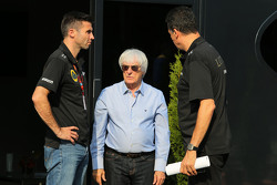 Bernie Ecclestone, and Federico Gastaldi, Team Manager, Lotus F1 Team