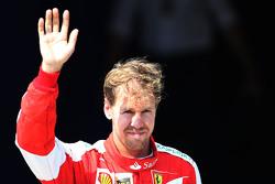 Tercer clasificado Sebastian Vettel, Scuderia Ferrari