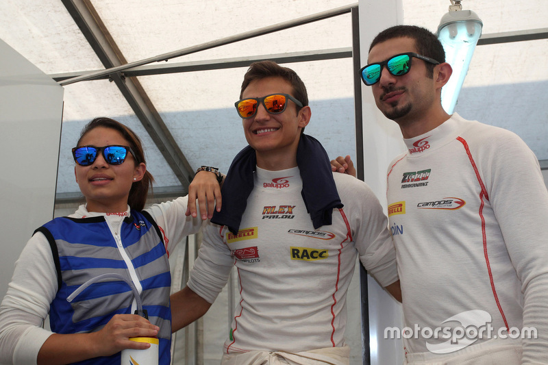 Samin Gomez, Campos Racing, Alex Palou, Campos Racing and Zaid Ashkanani, Campos Racing