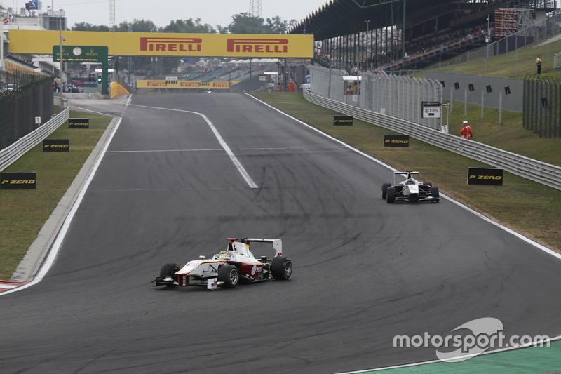 Samin Gomez, Campos Racing leads Alex Palou, Campos Racing