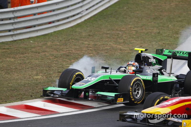 Richie Stanaway, Status Grand Prix, bloque une roue