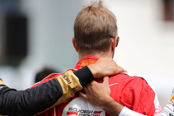 Drivers during the minute of silence for Jules Bianchi  Kimi Raikkonen, Scuderia Ferrari