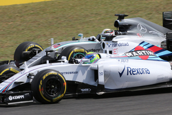 Felipe Massa, Williams F1 Team e Lewis Hamilton, Mercedes AMG F1 Team