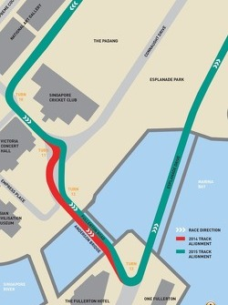 Modifications sur le circuit de Singapour