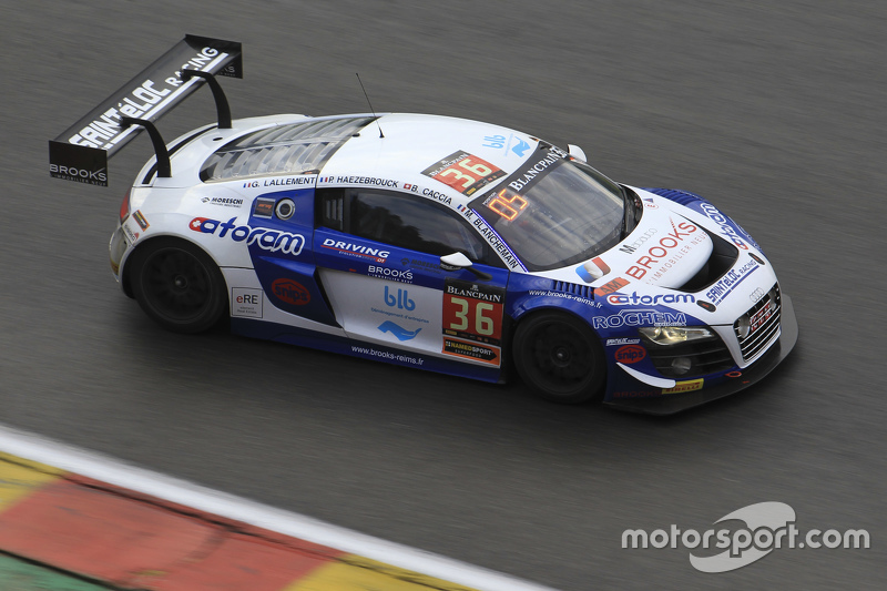 #36 Sainteloc Racing Audi R8 LMS Ultra: Mickael Blanchemain, Gilles Lallement, Philippe Haezebrouck