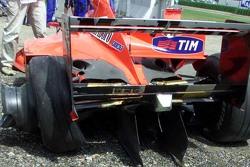 La Ferrari endommagé de Michael Schumacher
