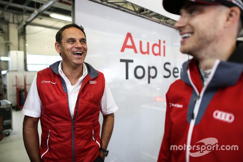 Hans-Jürgen Abt with Edoardo Mortara, Audi Sport Team Abt Audi RS 5 DTM