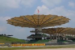 Les tribunes de Sepang