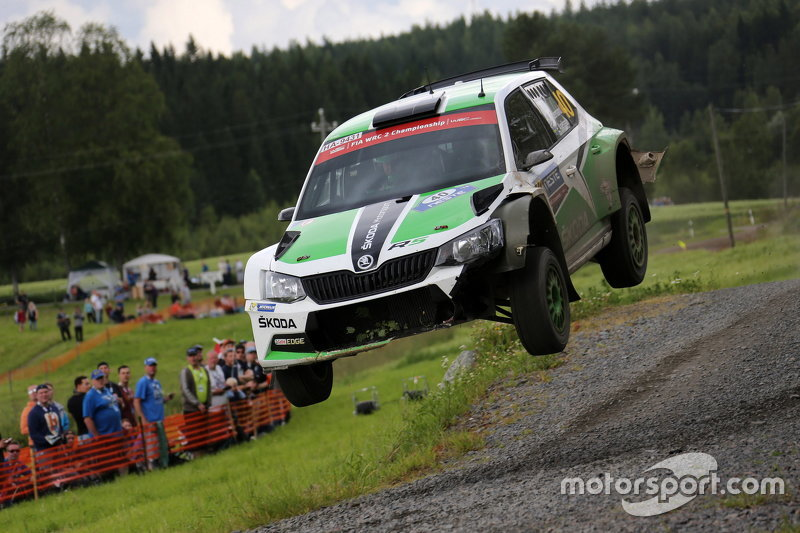 Pontus Tidemand and Emil Axelsson, Skoda Motorsport Skoda Fabia R6