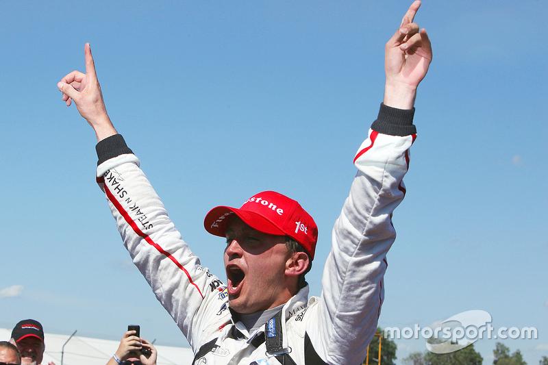 Juara balapan Graham Rahal, Rahal Letterman Lanigan Racing Honda merayakans