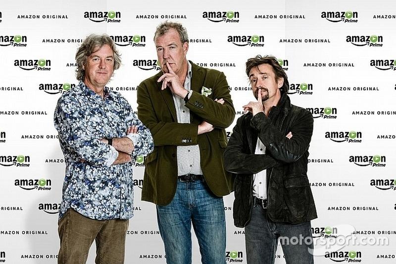 O trio Jeremy Clarkson, Richard Hammond e James May assinaram com a Amazon