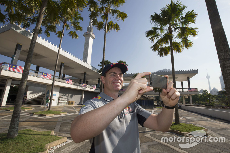 Craig Lowndes, Triple Eight Race Engineering takes in the sights around Kuala Lumpur, Malaysia