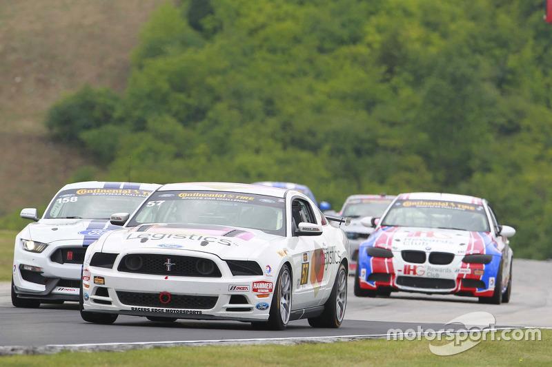 #57 Racers Edge Motorsports Mustang Boss 302R: Louis-Philippe Montour, Nick Galante