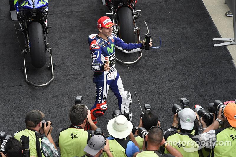 Second place Jorge Lorenzo, Yamaha Factory Racing