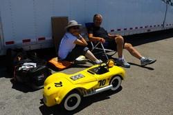 Ouderwetse racewagen voor kinderen