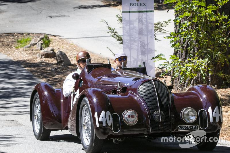 Pierre F. Mellinger, 1938 Alfa Romeo 6C 2300B MM Touring-style Spider Corsa