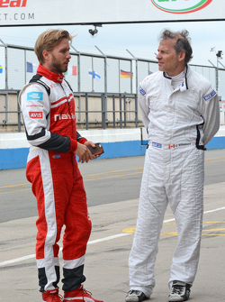 Nick Heidfeld, Mahindra Racing and Jacques Villeneuve, Venturi