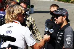 Sergio Perez, Sahara Force India F1 with the media