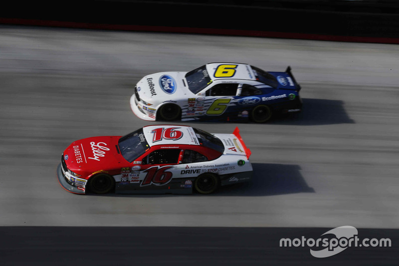 Ryan Reed, Roush Fenway Racing Ford and Darrell Wallace Jr., Roush Fenway Racing Ford