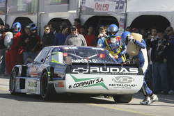 First time refueling in TC Martin Ponte, Nero53 Racing Dodge