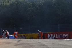 Jann Mardenborough, Carlin crashes out of the race