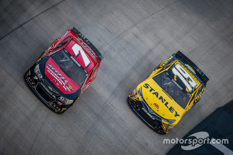 Alex Bowman, Tommy Baldwin Racing dan Carl Edwards, Joe Gibbs Racing Toyota