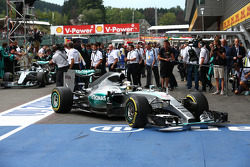 1st place Lewis Hamilton, Mercedes AMG F1 and 2nd place Nico Rosberg, Mercedes AMG F1 W06