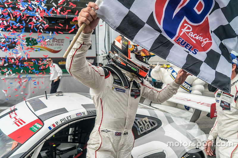 Race winner #911 Porsche North America Porsche 911 RSR: Nick Tandy