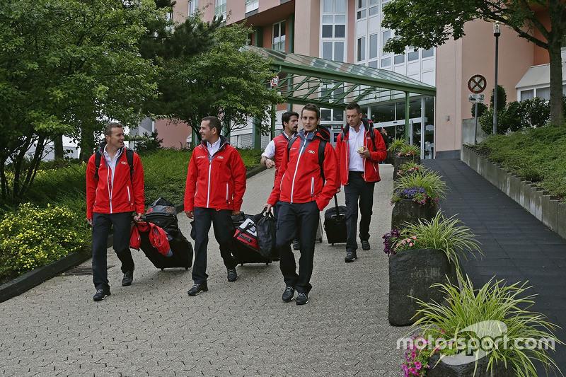 Andre Lotterer, Benoit Tréluyer, Marcel Fassler, Lucas di Grassi, Oliver Jarvis, Audi Sport Team Joe