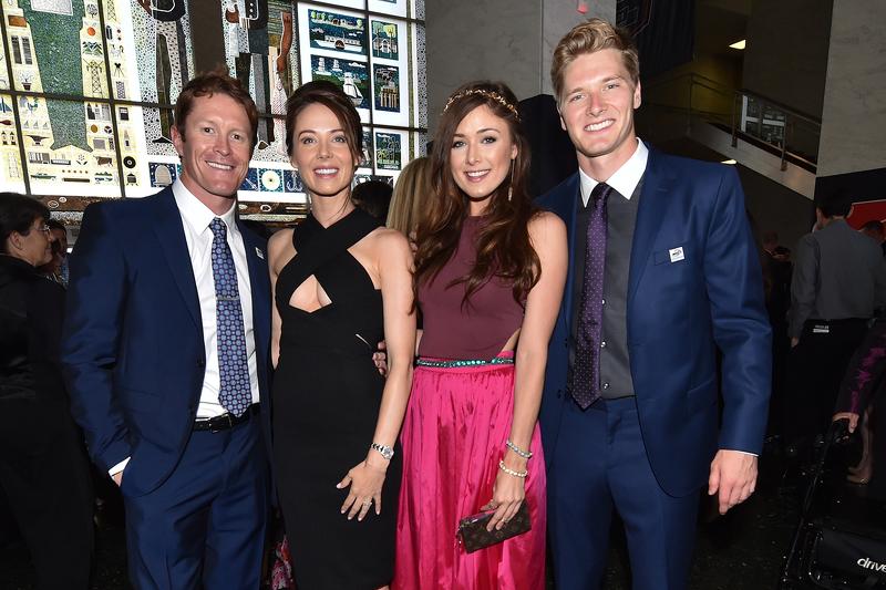 Scott Dixon, Chip Ganassi Racing Chevrolet with wife Emma Davies, and Josef Newgarden