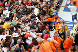 Daniel Ricciardo, Red Bull Racing with the fans
