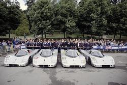 #63 Team Sauber Mercedes Sauber-Mercedes C9: Jochen Mass, Manuel Reuter, Stanley Dickens