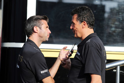 Matthew Carter, Lotus-F1-Chef; Federico Gastaldi, Lotus-Teamchef