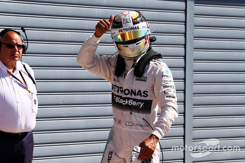 Pole Lewis Hamilton, Mercedes AMG F1 Team