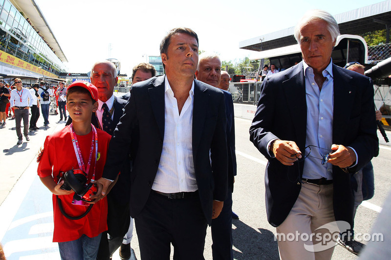 Matteo Renzi, Italian Prime Minister with his son